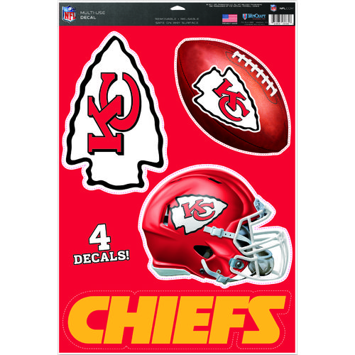 WinCraft Kansas City Chiefs Multiuse Decal