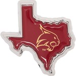 Stockdale Texas State University Chrome Metal Auto Emblem