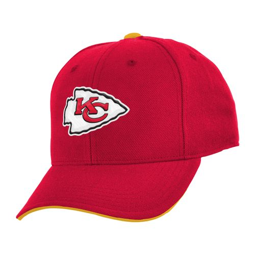 NFL Boys' Kansas City Chiefs Basic Straight Adjustable Cap