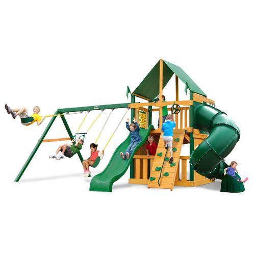 Gorilla Playsets™ Mountaineer Clubhouse Swing Set with Timber Shield™ and Deluxe Vinyl Can - view number 1