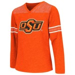 Colosseum Athletics Girls' Oklahoma State University Cupie Long Sleeve T-shirt