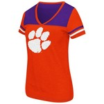 Colosseum Athletics Women's Clemson University Rhinestone Short Sleeve T-shirt