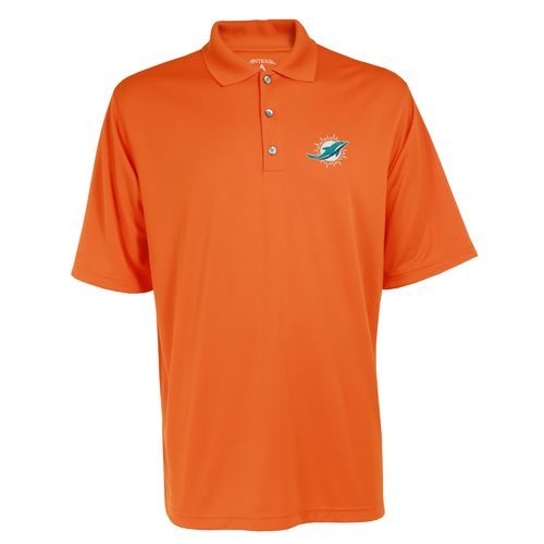 Antigua men 39 s miami dolphins exceed polo shirt academy for Embroidered polo shirts miami