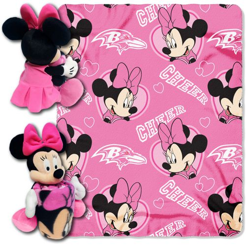 The Northwest Company Baltimore Ravens Minnie Mouse Hugger and Fleece Throw Set - view number 1