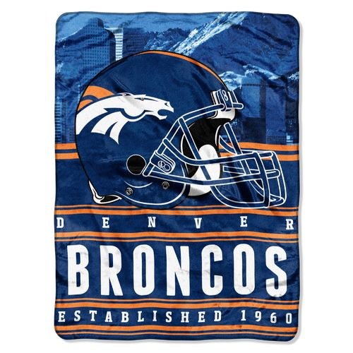 The Northwest Company Denver Broncos Stacked Silk Touch