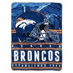 The Northwest Company Denver Broncos Stacked Silk Touch Throw