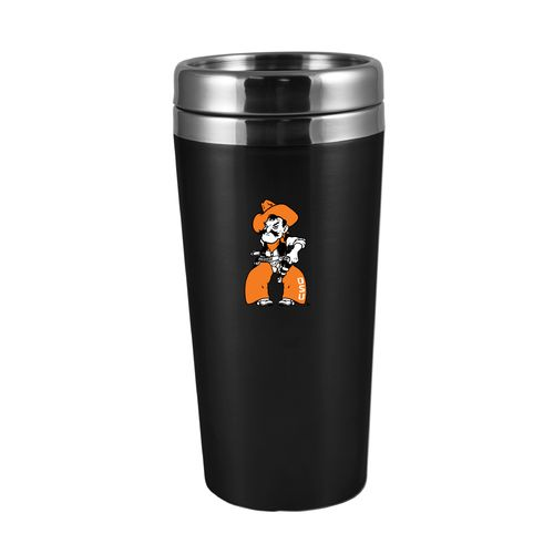 The Fanatic Group Oklahoma State University 16 oz. Rubberized Stainless-Steel Tumbler