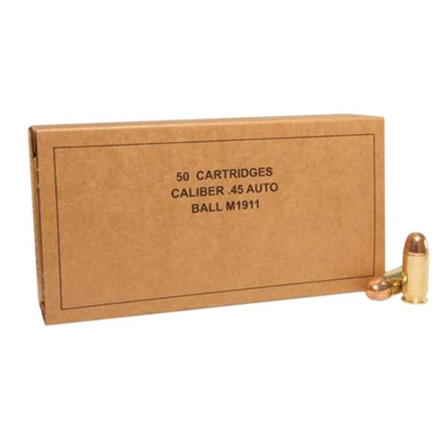 Display product reviews for Winchester Military Service Grade .45 ACP 230-Grain Full Metal Jacket Centerfire Handgun Ammunition