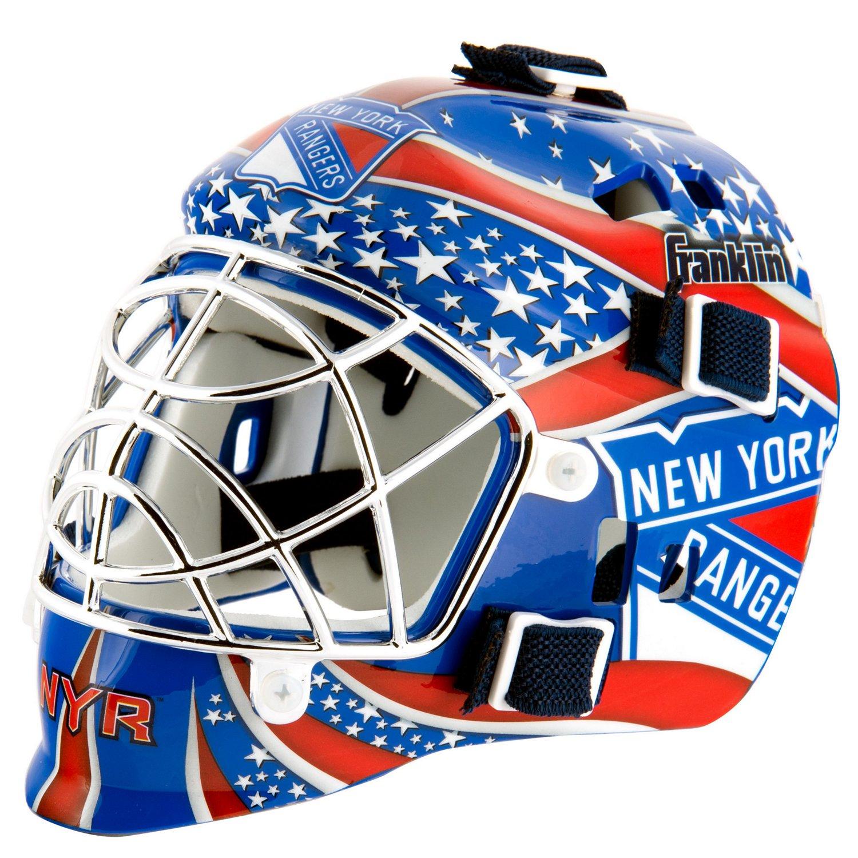 Franklin NHL Team Series New York Rangers Mini Goalie Mask for sale