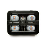 Team Golf University of Illinois 4-Ball Tin Gift Set