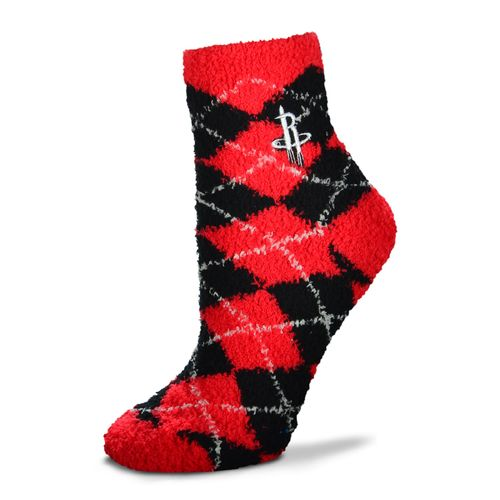 For Bare Feet Women's Houston Rockets Originals Sleepsoft Quarter-Length Argyle Socks