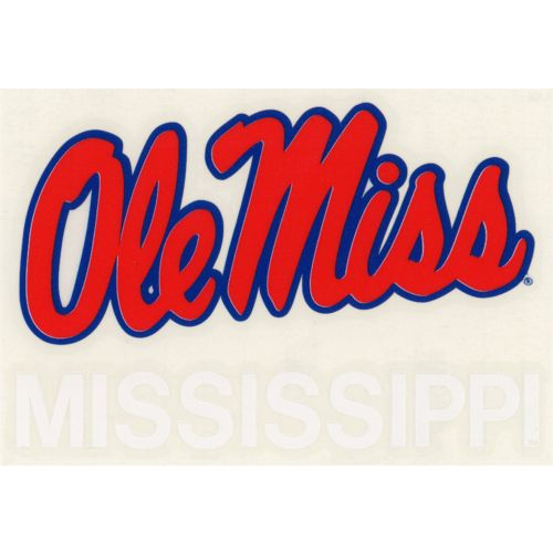 "Stockdale University of Mississippi 4"" x 7"" Decals 2-Pack"