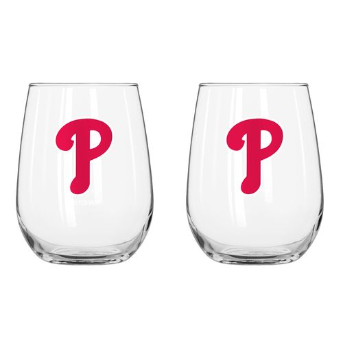 Boelter Brands Philadelphia Phillies 16 oz. Curved Beverage Glasses 2-Pack