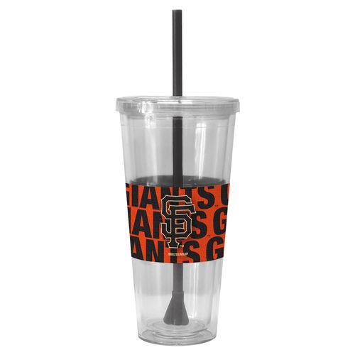 Boelter Brands San Francisco Giants Bold Neo Sleeve 22 oz. Straw Tumblers 2-Pack