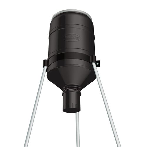 American Hunter Shorty 180 Tripod Deer Feeder with R-Kit Pro and Varmint Buster