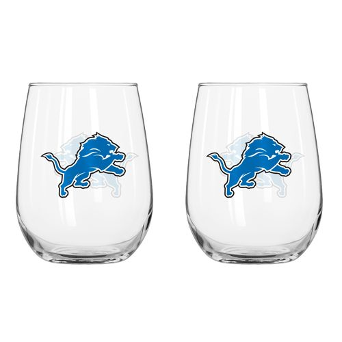 Boelter Brands Detroit Lions 16 oz. Curved Beverage Glasses 2-Pack