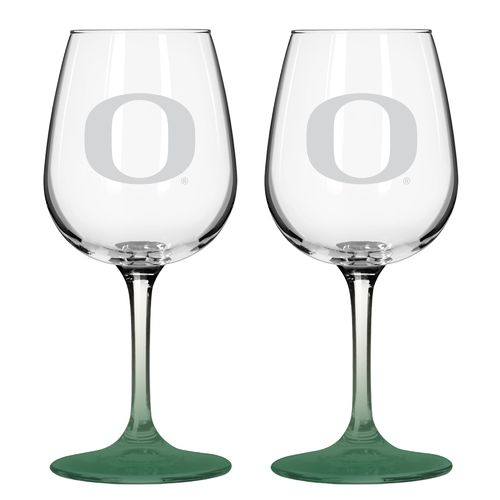 Boelter Brands University of Oregon 12 oz. Wine Glasses 2-Pack