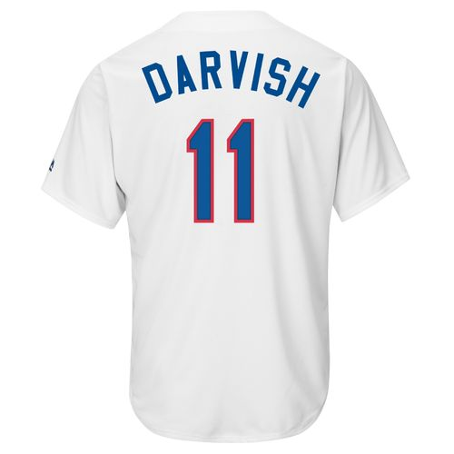 Majestic Men's Texas Rangers Yu Darvish #11 Cooperstown Cool Base Replica Jersey