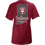 Three Squared Women's Indiana University State Monogram Anchor T-shirt