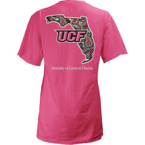 Three Squared Juniors' University of Central Florida Preppy Paisley T-shirt