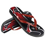 Forever Collectibles™ Kids' Houston Texans Wordmark Stripe Flip-Flops