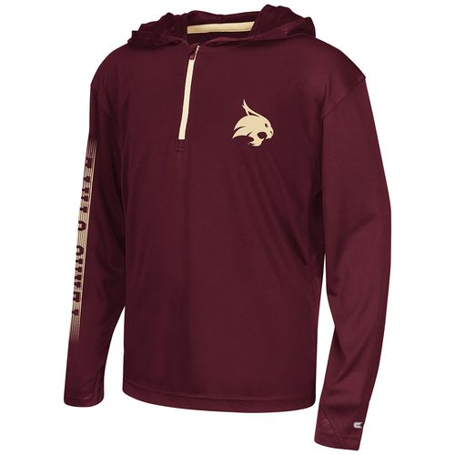 Colosseum Athletics™ Boys' Texas State University Sleet 1/4 Zip Hoodie Windshirt