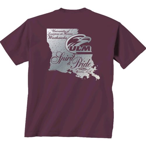New World Graphics Women's University of Louisiana at Monroe Silver State Distress T-shirt