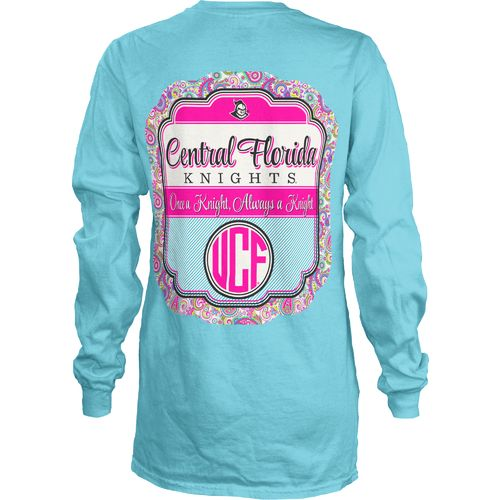 Three Squared Juniors' University of Central Florida Paisley Frame T-shirt