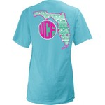 Three Squared Juniors' University of Central Florida Moonface Vee T-shirt