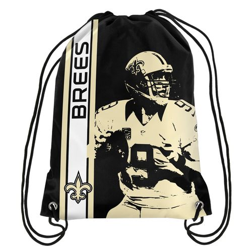 Team Beans New Orleans Saints Drew Brees #9 Drawstring Backpack