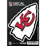 "Stockdale Kansas City Chiefs 3"" x 5"" Logo Decal"