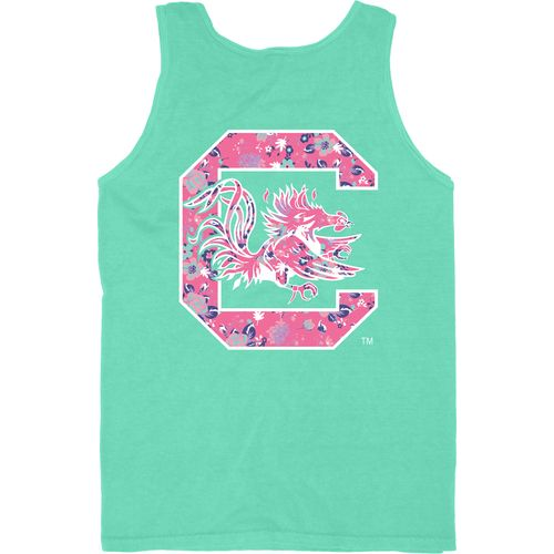 Blue 84 Women's University of South Carolina Logo Overdyed Tank Top