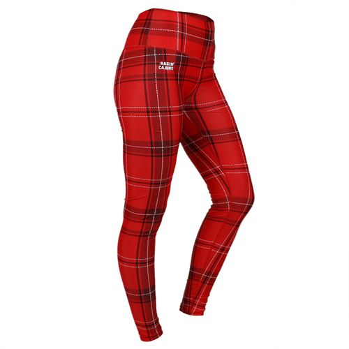 ZooZatz Women's University of Louisiana at Lafayette Tartan Plaid Legging