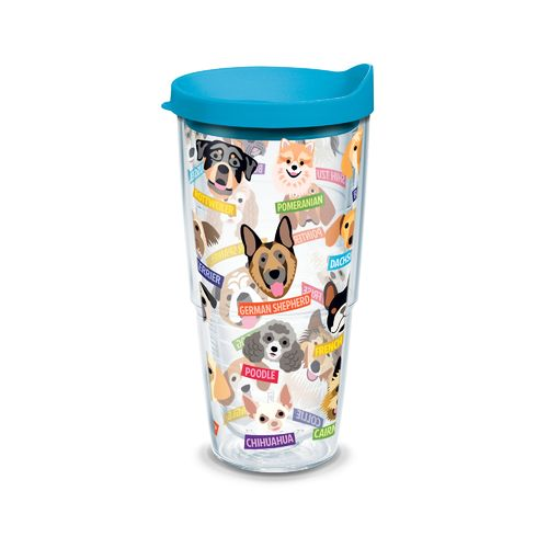 Tervis Flat Art Dog Breeds 24 oz. Tumbler with Lid