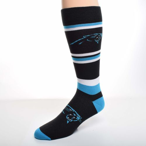 For Bare Feet Men's Carolina Panthers Squad Stripe Dress Socks