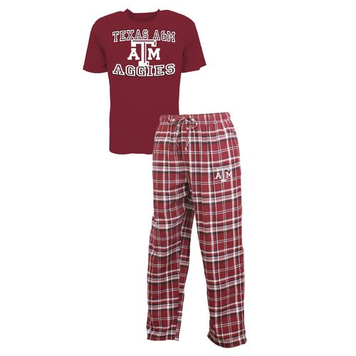 Concepts Sport™ Men's Texas A&M University Tiebreaker Shirt and Pant Set