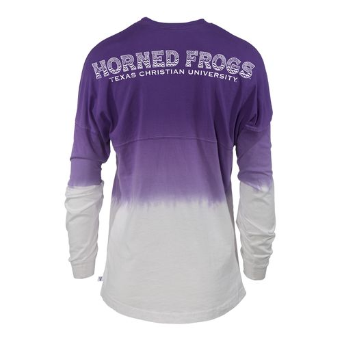 NCAA Women's Texas Christian University Ombré Tribal Football T-shirt