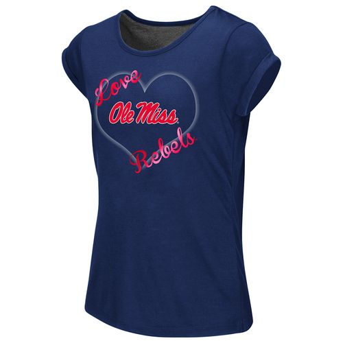 Colosseum Athletics™ Girls' University of Mississippi Baywatch Split Back T-shirt - view number 1