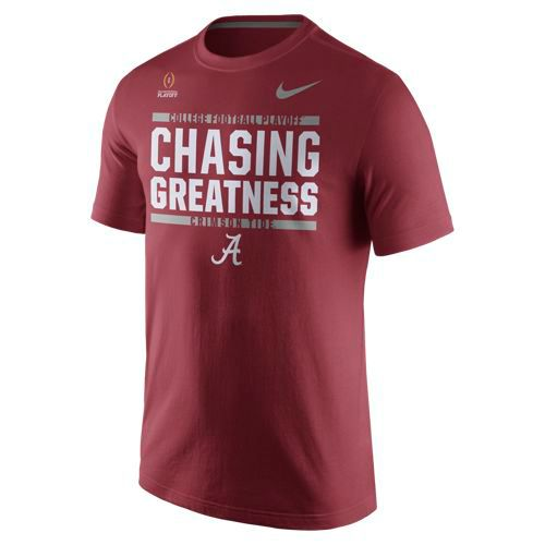 Nike Men's University of Alabama 2017 Playoff Bound Chasing Greatness T-shirt
