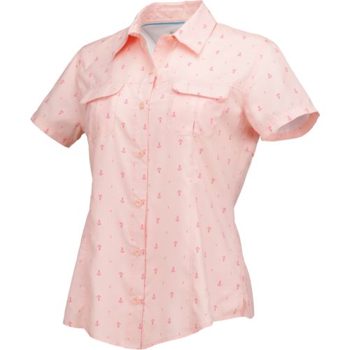Magellan Outdoors Women's Aransas Pass Short Sleeve Printed Top - view number 1
