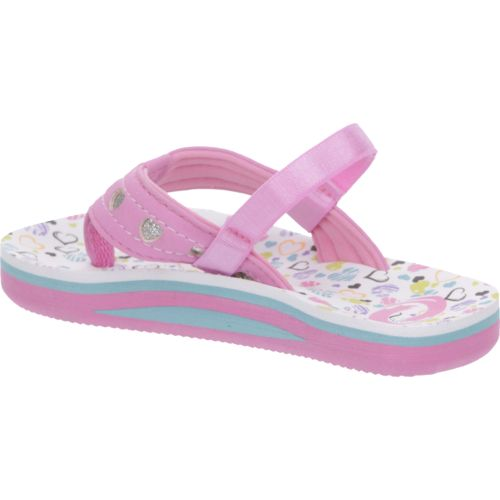 O'Rageous Toddler Girls' Hearts Flip-Flops - view number 3