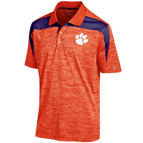 Champion™ Men's Clemson University Synthetic Colorblock Polo Shirt