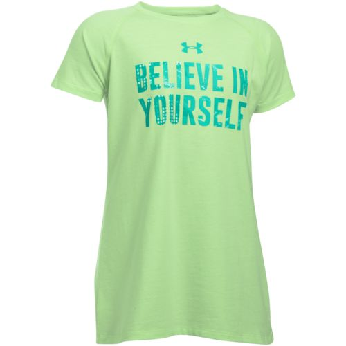 Under Armour Girls' Believe in Yourself Short Sleeve T-shirt - view number 1