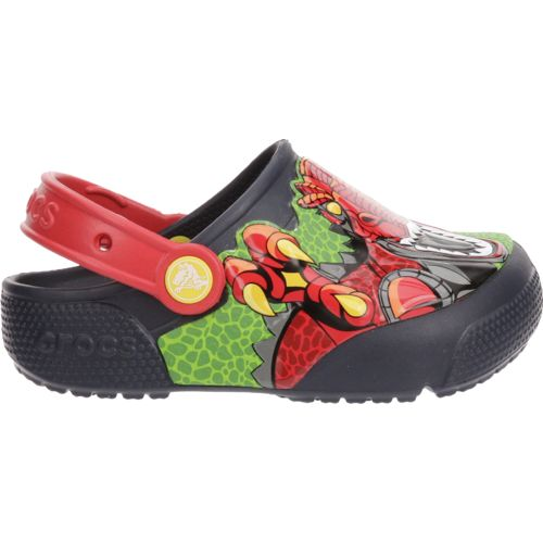 Display product reviews for Crocs™ Boys' FunLab Lights K-Robosaurus Rex Clogs