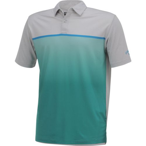 Callaway Men's Short Sleeve Opti-Soft Golf Performance Ombre Heather Block Polo Shirt - view number 3