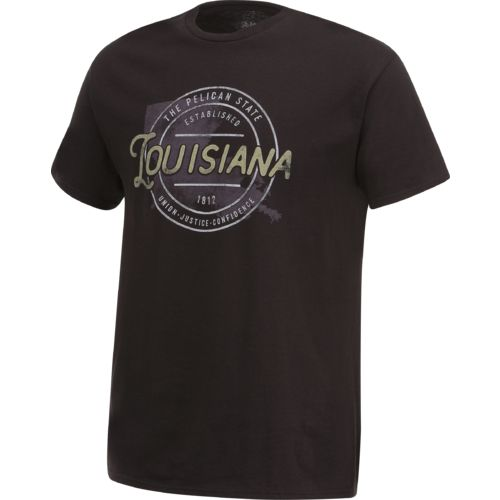 Academy Sports + Outdoors Men's Louisiana Circle T-shirt - view number 3