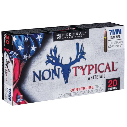 Federal Premium 7mm Rem Mag 150-Grain Nontypical Rifle Ammunition