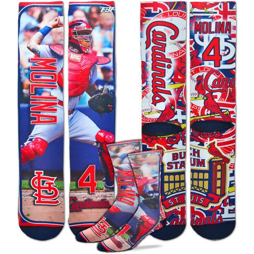 For Bare Feet Unisex St. Louis Cardinals Yadier Molina Player Socks