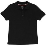 French Toast Girls' Plus Size Polo Shirt with Picot Collar - view number 1