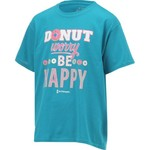 Love & Pineapples Girls' Donut Worry Be Happy Short Sleeve T-shirt - view number 3